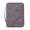 Gray Poly-Canvas Value Bible Cover with Fish Badge
