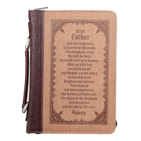The Lord's Prayer in Brown Bible Cover