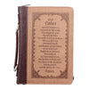 The Lord's Prayer Brown Two-tone Faux Leather Bible Cover