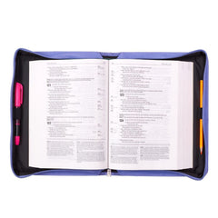 Trust in the Lord Purple Faux Leather Bible Cover - Proverbs 3:5