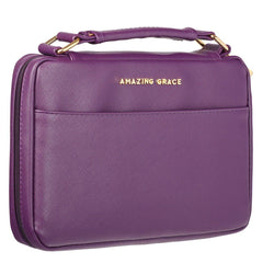 Amazing Grace Berry Purple Faux Leather Fashion Bible Cover