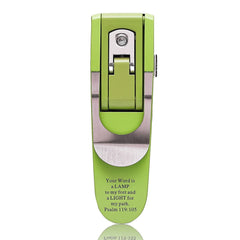 Green - Psalm 119:105 Hydraulic Pop-up Booklight
