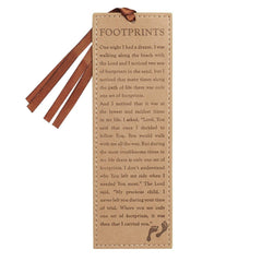 Footprints in Tan Bookmark