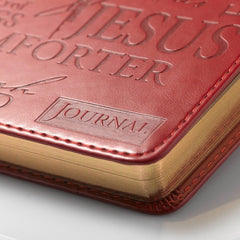 Names of Jesus Handy-sized LuxLeather Journal in Burgundy