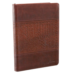 The Names of Jesus Handy-sized Journal in Two-toned Brown