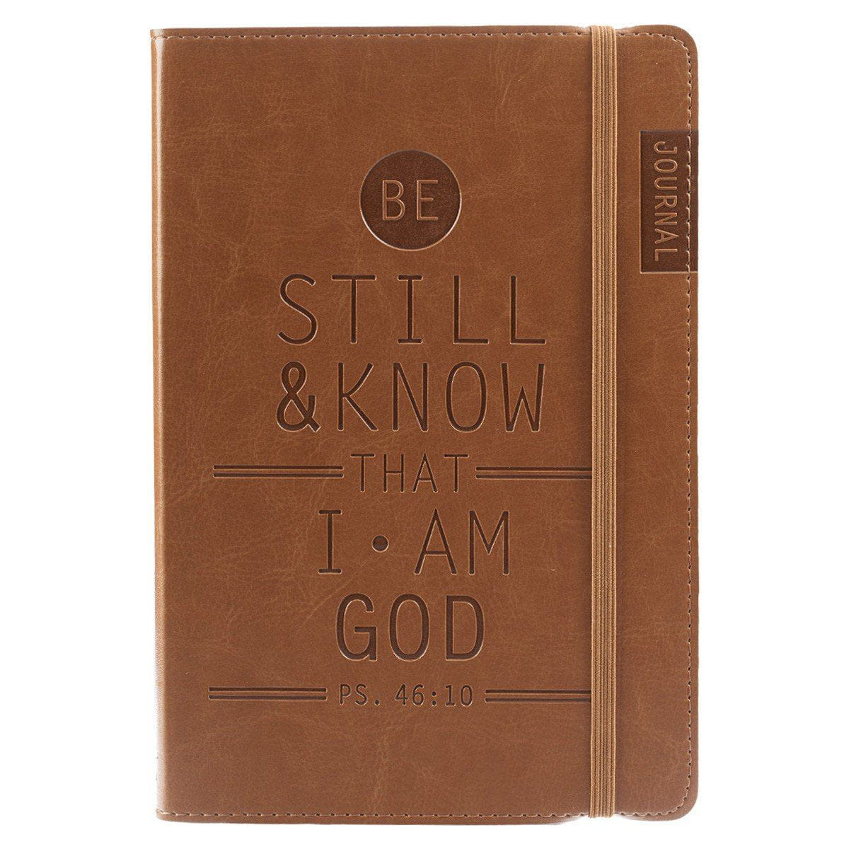 Be Still & Know Tan Flexcover Journal - Psalm 46:10