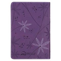 Purple Faux Leather Compact King James Version Bible