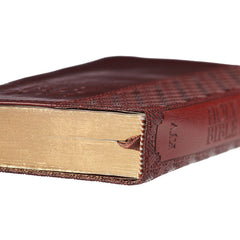 Brown Faux Leather Compact King James Version Bible