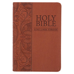 Tan Faux Leather King James Version Pocket Bible