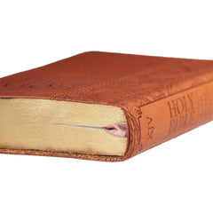 Tan Faux Leather Pocket Bible - KJV