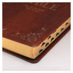 Burgundy Faux Leather Deluxe King James Version Gift Bible with Thumb Index