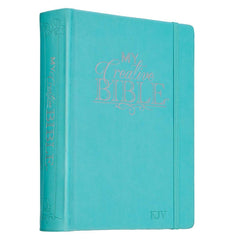 Teal Faux Leather Hardcover My Creative Bible - KJV Journaling Bible