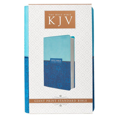 Blue Two-tone Faux Leather Giant Print King James Version Bible