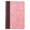 Brown and Pink Half-bound  Faux Leather Compact King James Version Bible
