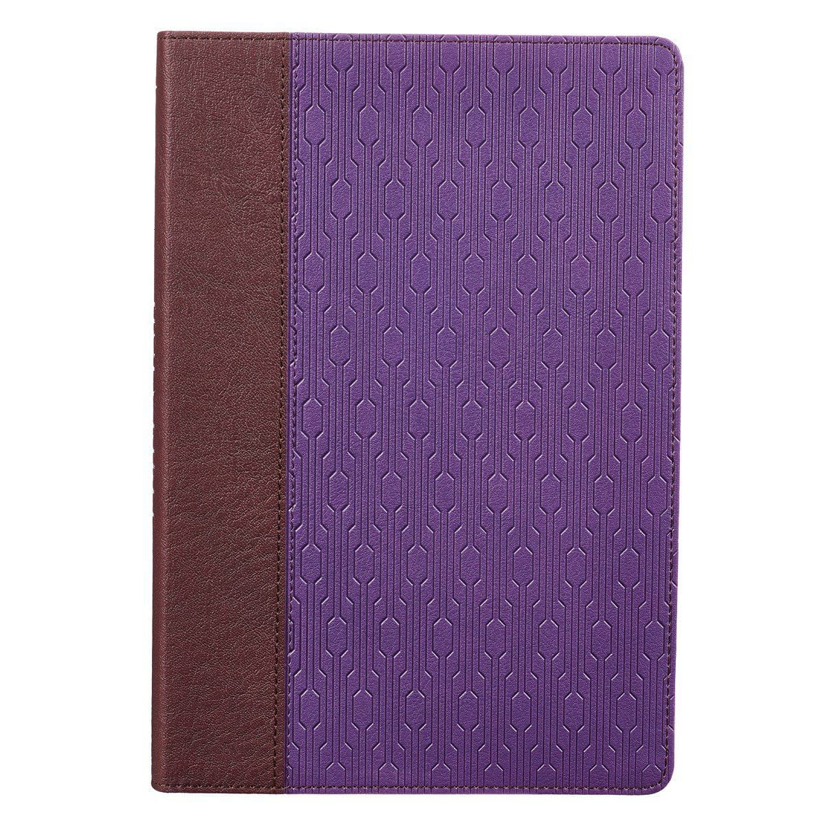 Brown and Purple KJV Bible Large Print