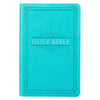 Turquoise Faux Leather Gift and Award Bible - KJV