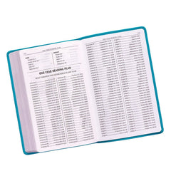 Teal Faux Leather King James Version Gift Edition Bible