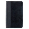 Black Faux Leather Giant Print King James Version Bible with Thumb Index