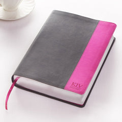 Grey and Pink KJV Bible Super Giant Print