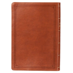 Tan Faux Leather Super Giant Print Bible - KJV