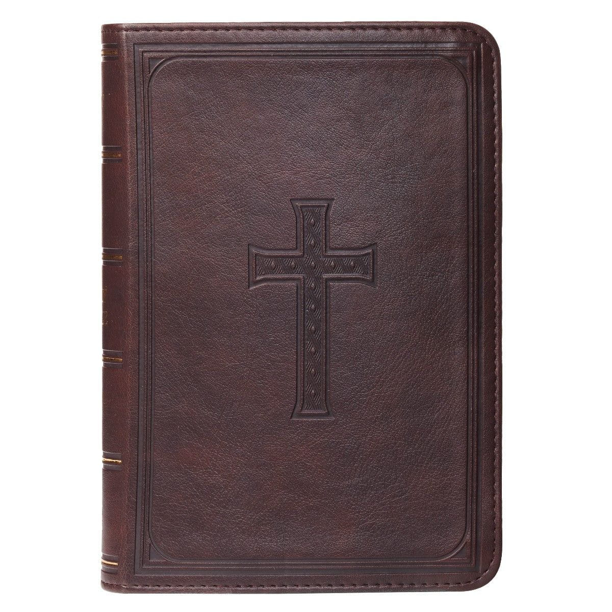 Brown KJV Bible Large Print Compact