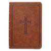 Medium Brown Faux Leather Large Print Compact King James Version Bible