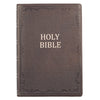 Brown Premium Leather Super Giant Print Bible with Thumb Index- KJV