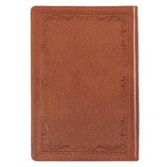 Tan Premium Leather Large Print Thinline King James Version Bible with Thumb Index