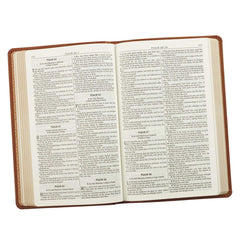 Saddle Tan Faux Leather Gift and Award Bible - KJV
