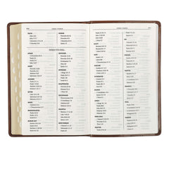 Medium Brown King James Version Deluxe Gift Bible with Thumb Index