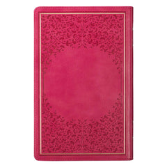 Pink Faux Leather King James Version Deluxe Gift Bible with Thumb Index