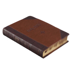 Two-tone Brown Faux Leather Giant Print Full-size King James Version Bible