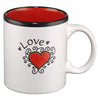 Love on White with Red Interior John 13:34-35 Coffee Mug