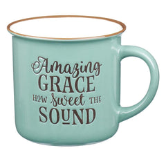 Amazing Grace Green Camp Style Coffee Mug