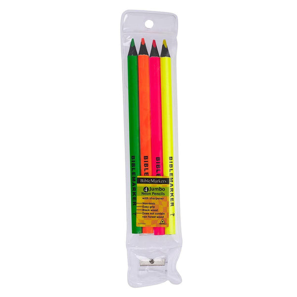 Highlighter Pencils Set of 4 Jumbo