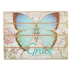 Butterfly Blessings 'Grace' Wall Plaque - Ephesians 2:8
