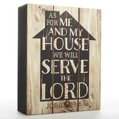 Wall Plaque: As For Me and My House - Joshua 24:14