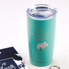 It Is Well Stainless Steel Mug in Green
