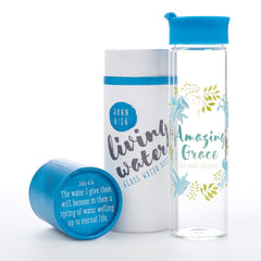 Amazing Grace Glass Water Bottle