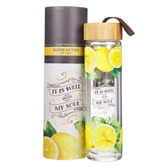 It Is Well With My Soul Glass Infuser Water Bottle