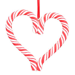 Candy Cane Heart Decoration
