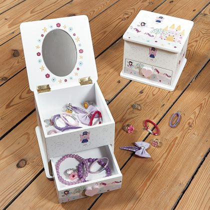 FAIRY UNICORN WOODEN CHEST WITH TRINKET DRAW