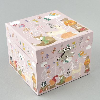 WOODLAND ANIMALS MUSICAL JEWELLERY BOX