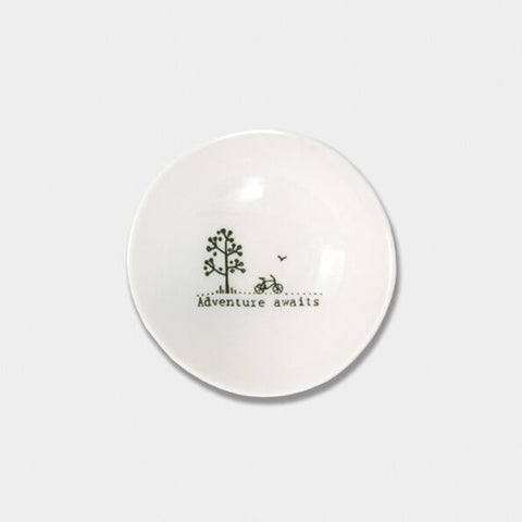 'ADVENTURE AWAITS' MINI TRINKET DISH