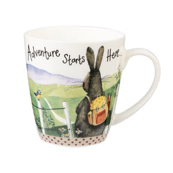 ADVENTURE STARTS HERE FINE BONE CHINA MUG
