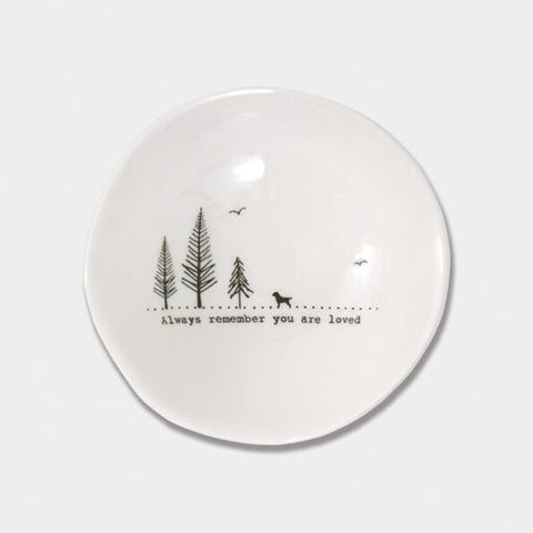 'ALWAYS REMEMBER YOU ARE LOVED' WOBBLE BOWL