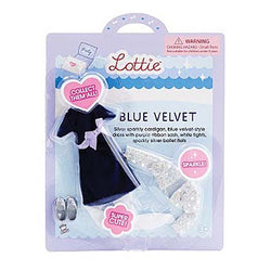 LOTTIE BLUE VELVET OUTFIT SET