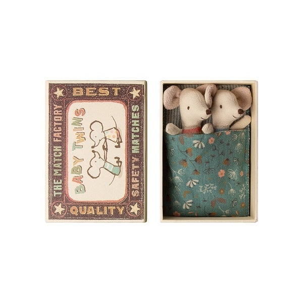 MAILEG BABY MICE TWINS IN MATCHBOX