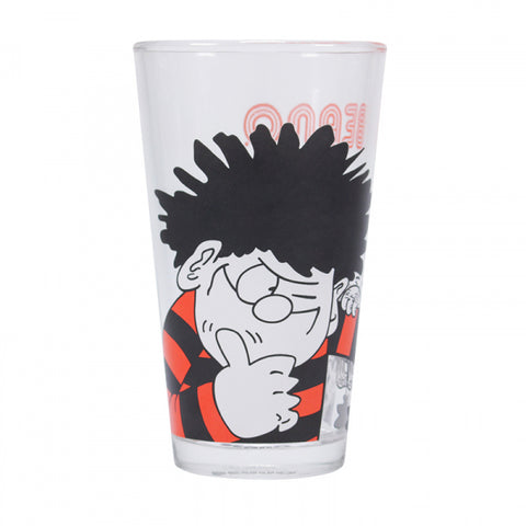 BEANO DENNIS AND GNASHER LARGE GLASS