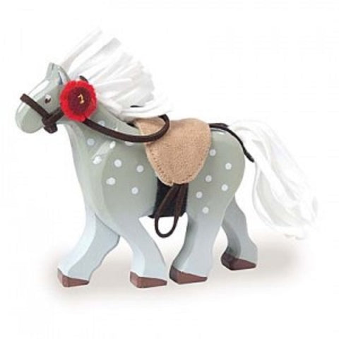 BUDKIN GREY HORSE WITH SADDLE